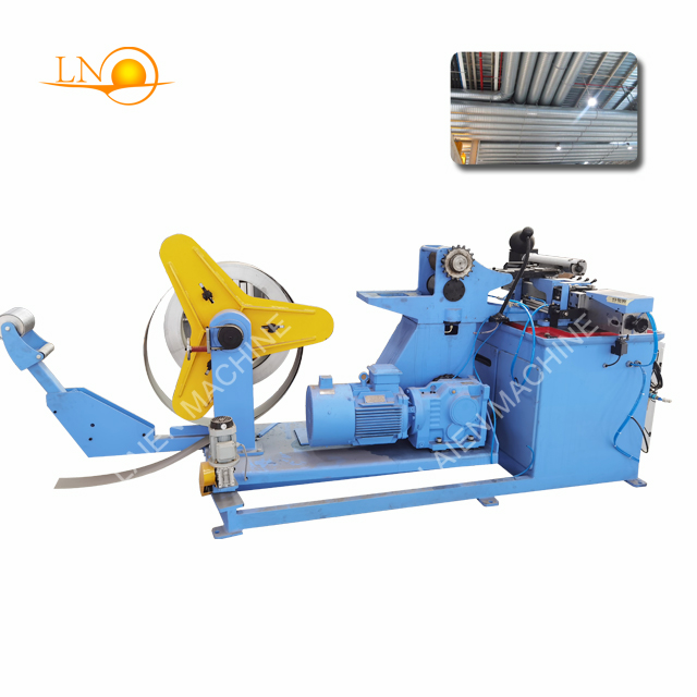 PLC control air duct spiral machine for ventilation purpose